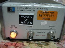 HP/AGILENT 8447A AMPLIFIER, .1-400 MHZ, 2 CH.